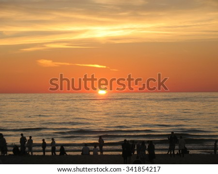 Lithuania, Palanga, sunset