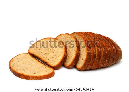 Lithuanian bread wheat-rye on a white background