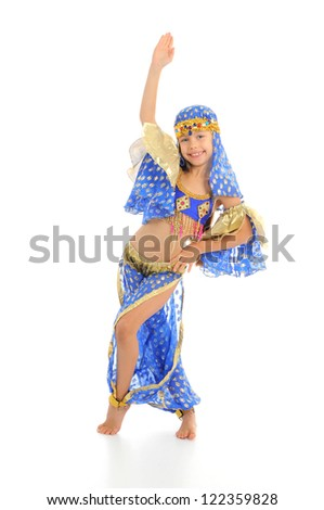 Little arabic belly-dancer
