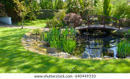 Pond stock images royalty free images vectors for Ornamental garden ponds