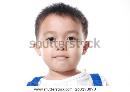 little asian boy  - stock photo