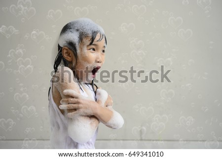 Asian Girl In Bath