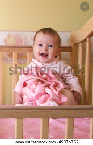 Little Baby Girl in crib