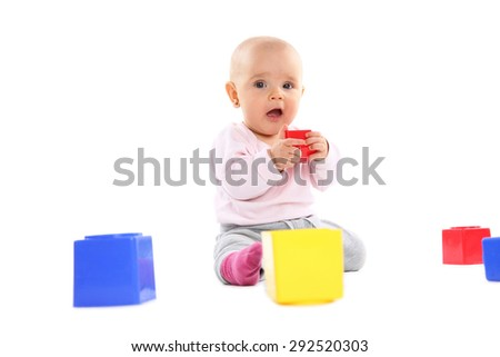 Little baby girl playing