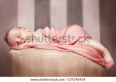 Little baby is sleeping - stock photo