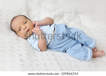 Little baby of 10 days old - stock photo