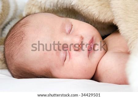 Little baby sleeping - stock photo