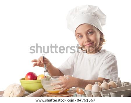Little baker - stock photo