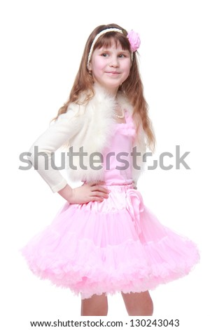 Little ballerina in a beautiful pack