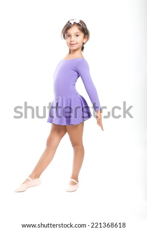 little ballerina on white background