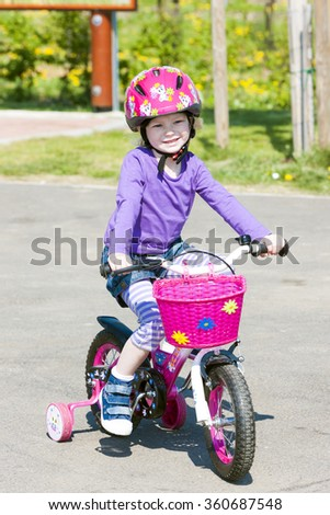little biker - stock photo
