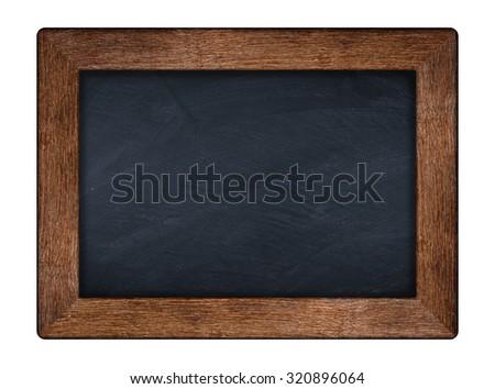 little blackboard with wooden old oak frame - stock photo
