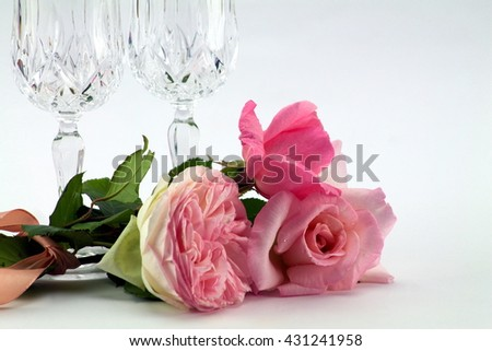 little bouquet of tender roses for romantic moment
