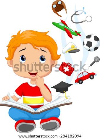 Little boy a million dreams - stock photo