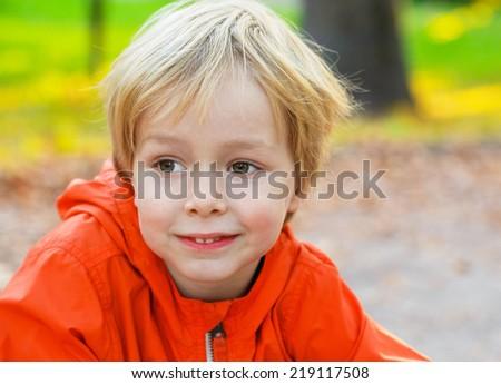 little boy child portrait  - stock photo