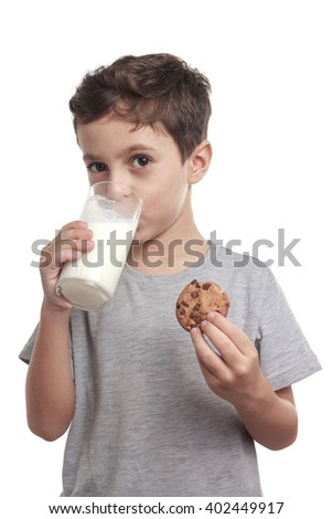 Funny Guy Holding Chocolate Chip Cookies
