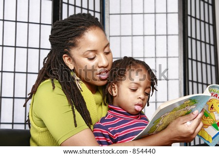 Little boy enjoying story time