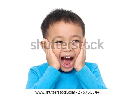 Little Boy, expression fun face  - stock photo