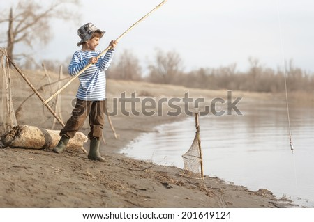 Stock images similar to id 197128901 four boys with for Little boy fishing