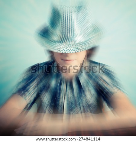 little boy hipster - stock photo