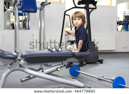 little boy in the gym