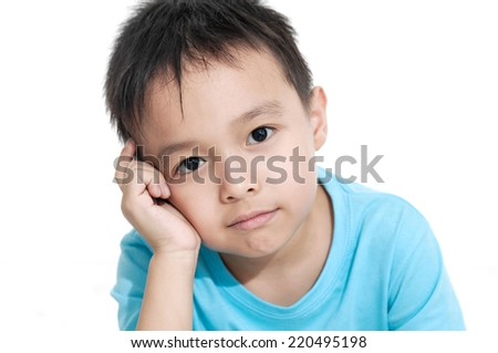 little boy isolated  - stock photo