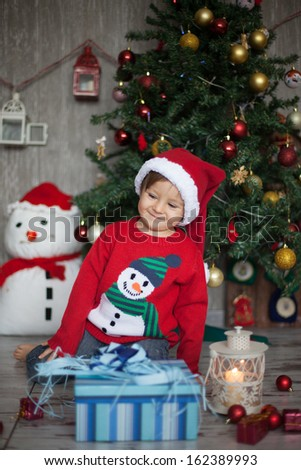 Little boy on christmas