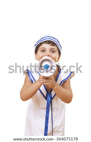 Little boy's index finger is pointing a target, making sign or touching a virtual screen. Isolated on white. Caucasian middle eastern male hand. - stock photo