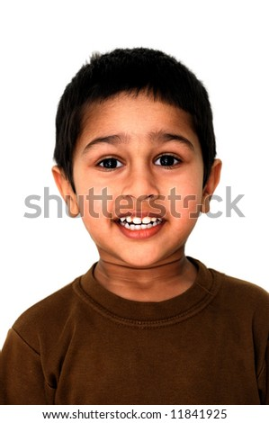 Little boy to look in wide eyed astonishment - stock photo