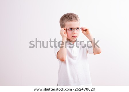 Little boy with a glasses   - stock photo