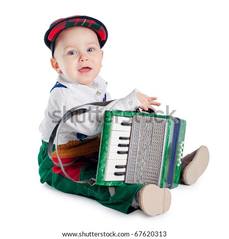 little boy with accordion