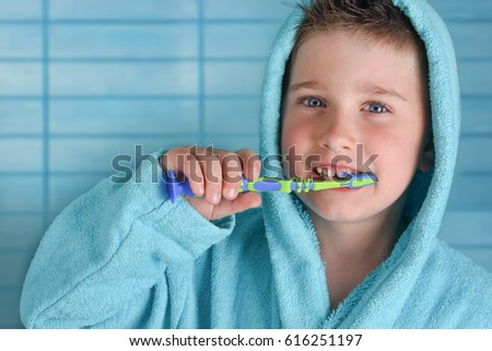 Little  boy with tooth brush