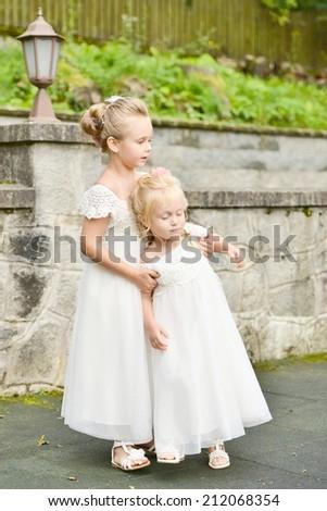 Little Bridesmaid - stock photo