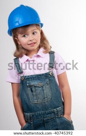 Little builder - stock photo