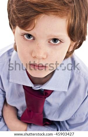 little businessman sad - stock photo