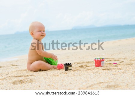 Little child on the beach