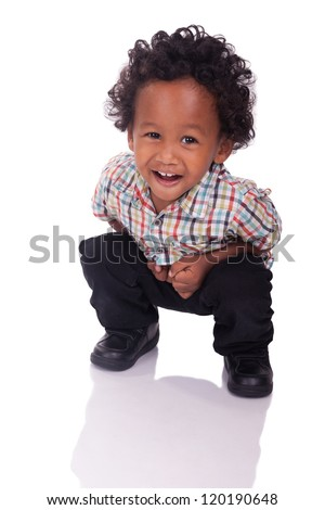 Little Chinese Indian smile isolated - stock photo