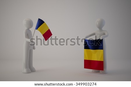 little country flag, romania