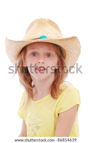Little cowgirl - stock photo