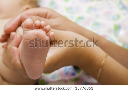 Little cute baby foot