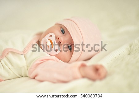 little cute newborn baby girl