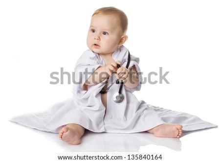 little doctor - stock photo