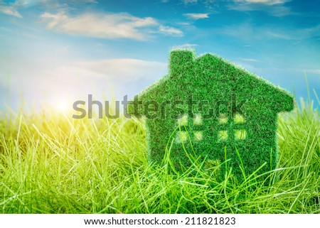 Little Eco House on the green grass