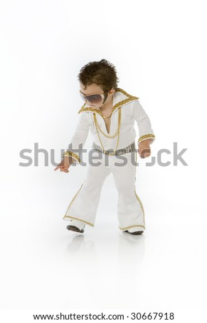 little elvis with glasses - stock photo