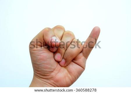 Little finger - stock photo