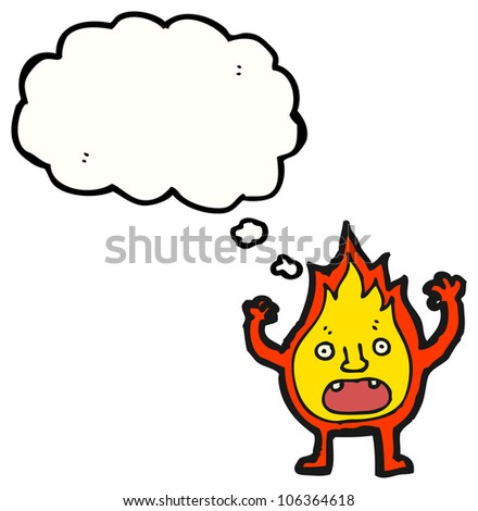little fire ball cartoon character