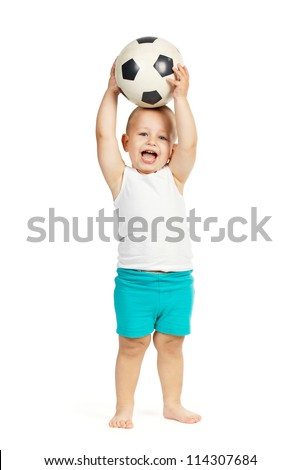 little football player - stock photo