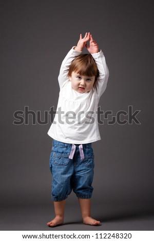 little funny girl - stock photo