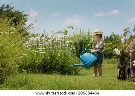 Little gardener - stock photo
