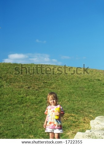 Little Girl and Blue Sky